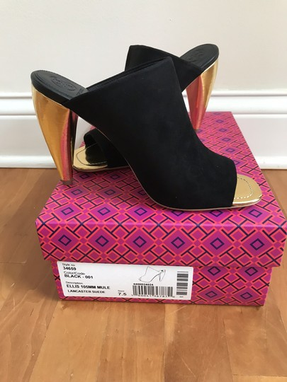 Tory Burch Black suede with gold heel Mules Image 8