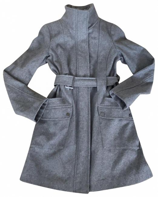 Item - Gray Belted Wool Coat Size 2 (XS)