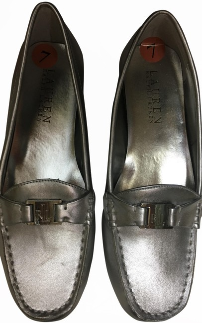 Item - Silver Careigh Metallic Kidskin Pu Flats Size US 7 Regular (M, B)