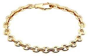 Cartier Flat Round 18k Yellow Gold Link Chain Bracelet