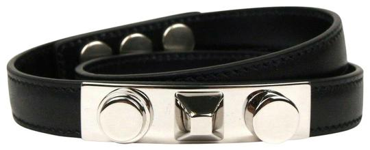 Preload https://img-static.tradesy.com/item/25960818/saint-laurent-black-leather-studded-wrap-around-420121-bracelet-0-1-540-540.jpg