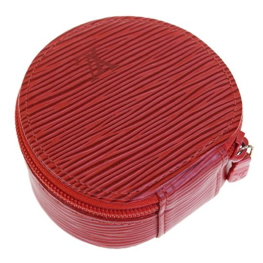 Chanel Authentic LOUIS VUITTON Ecrin Bijou Jewelry Case Leather Red Image 4