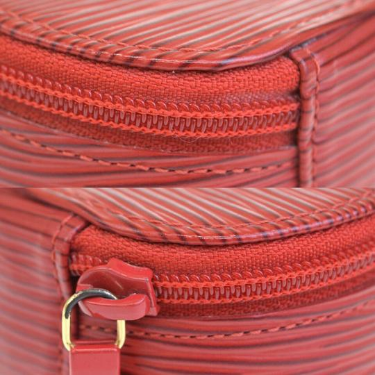 Chanel Authentic LOUIS VUITTON Ecrin Bijou Jewelry Case Leather Red Image 8