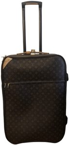 Louis Vuitton Leather Luggage Brown Classic Monogram Travel Bag