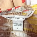 Diane von Furstenberg Tan Orange Yellow White Abstract Print Strapless Cotton Mid-length Short Casual Dress Size 2 (XS) Diane von Furstenberg Tan Orange Yellow White Abstract Print Strapless Cotton Mid-length Short Casual Dress Size 2 (XS) Image 5