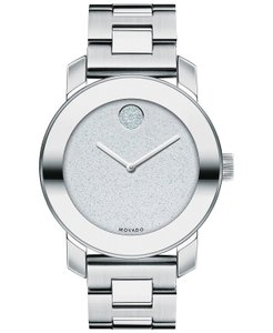 Movado Bold Stainless Steel Pave Crystal Glitter Dial 3600334