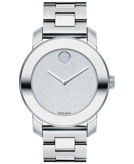 Movado Bold Stainless Steel Pave Crystal Glitter Dial 3600334 Image 4
