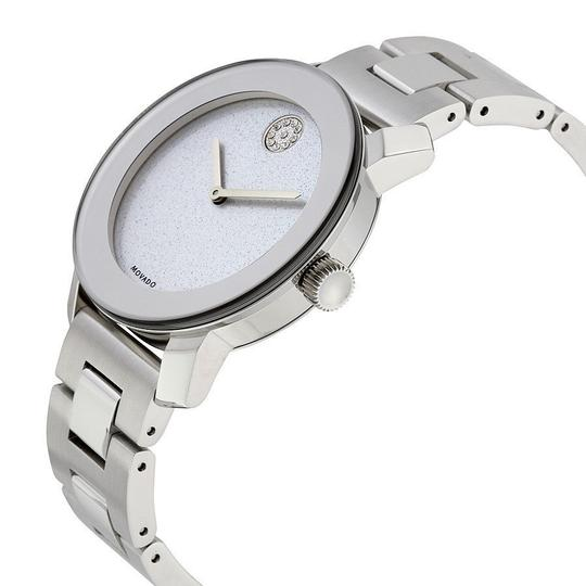 Movado Bold Stainless Steel Pave Crystal Glitter Dial 3600334 Image 6