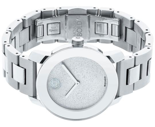 Movado Bold Stainless Steel Pave Crystal Glitter Dial 3600334 Image 9