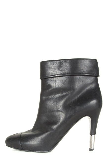 Item - Black Leather Boots/Booties Size EU 38.5 (Approx. US 8.5) Regular (M, B)