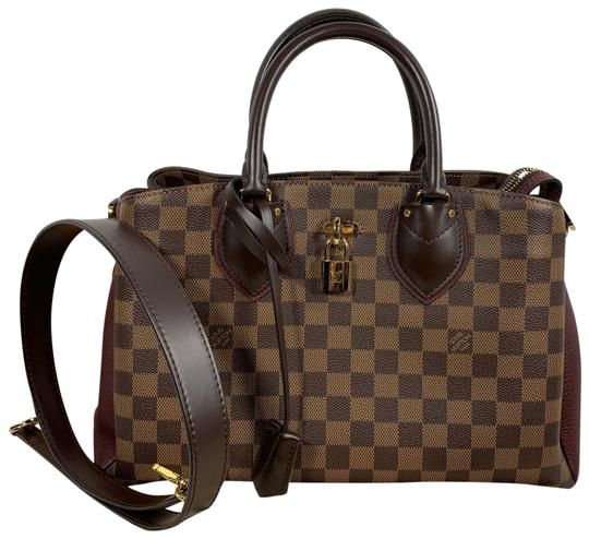 Preload https://img-static.tradesy.com/item/25961450/louis-vuitton-normandy-damier-ebene-raisin-brown-red-coated-canvas-satchel-0-3-540-540.jpg