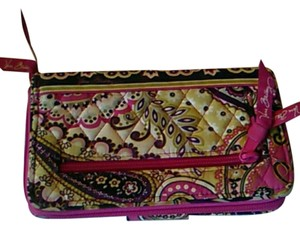 Vera Bradley Pink.multi color Clutch