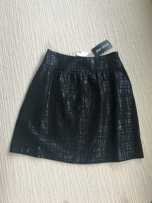 J Lee Silver Skirt black Image 2