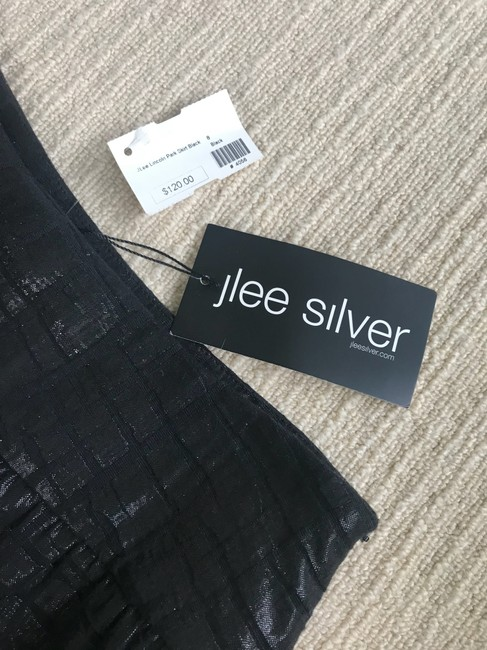 J Lee Silver Skirt black Image 3