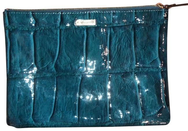 Item - Envelope Blue Patent Leather Clutch