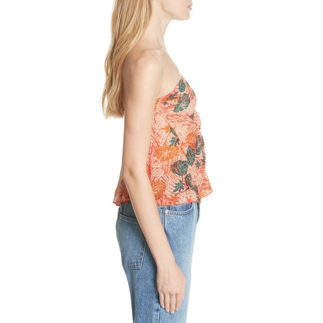 Free People Sleeveless Print Stretchy Rayon Strapless Top Multi-Color Image 3