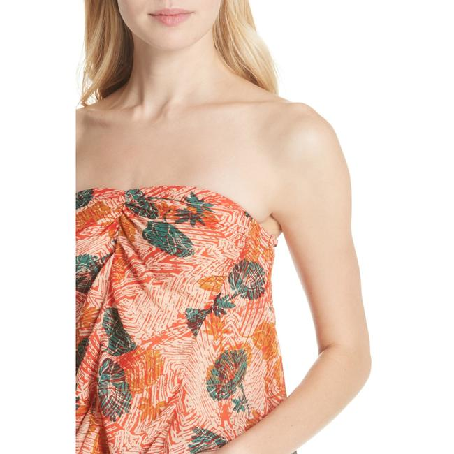Free People Sleeveless Print Stretchy Rayon Strapless Top Multi-Color Image 4