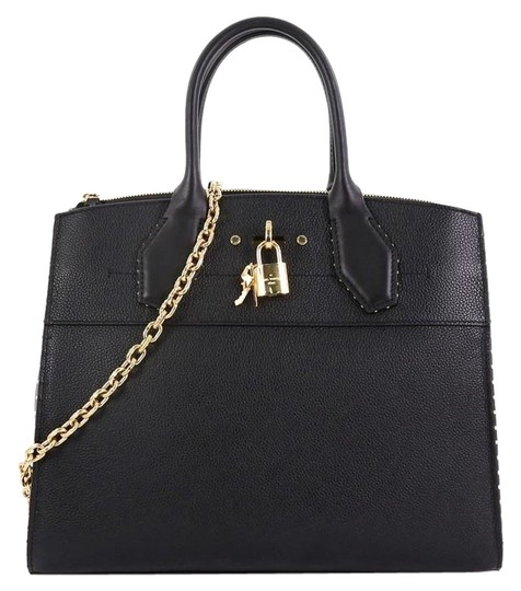 Louis Vuitton Steamer Leather Satchel in black Image 0