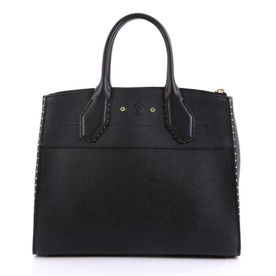Louis Vuitton Steamer Leather Satchel in black Image 2