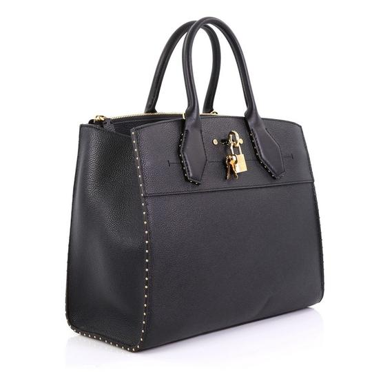 Louis Vuitton Steamer Leather Satchel in black Image 3