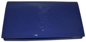 Saint Laurent Leather Blue Clutch
