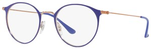 Ray-Ban Authentic Eyeglasses RB6378 2972 Round Violet/Bronze-Copper 47-21