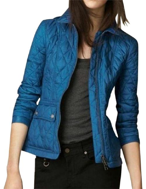 Preload https://img-static.tradesy.com/item/25961590/burberry-blue-brit-ivymoore-vibrant-diamond-quilted-check-zip-coat-jacket-size-4-s-0-1-650-650.jpg