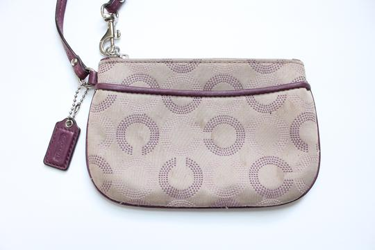 Coach Wallet Wristlet in Tan Purple Image 1