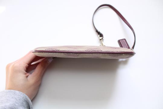 Coach Wallet Wristlet in Tan Purple Image 10