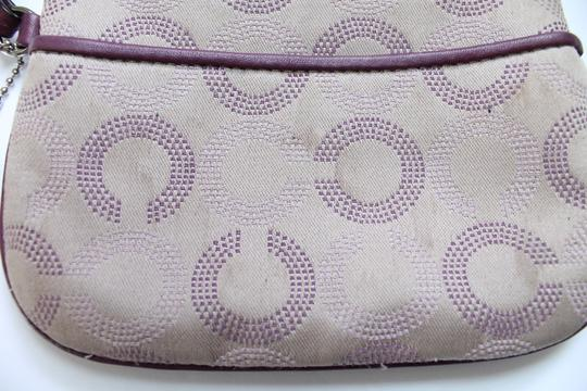 Coach Wallet Wristlet in Tan Purple Image 2