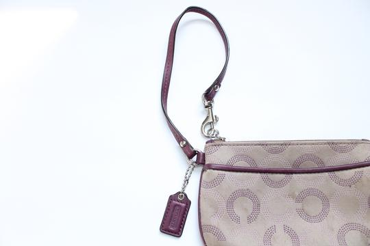 Coach Wallet Wristlet in Tan Purple Image 3