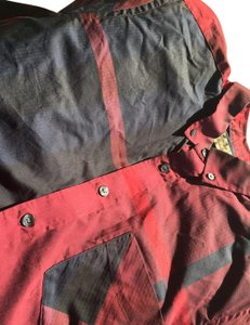 Burberry Button Down Shirt red blue black