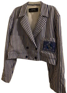 Ellen Tracy Navy blue and white Jacket
