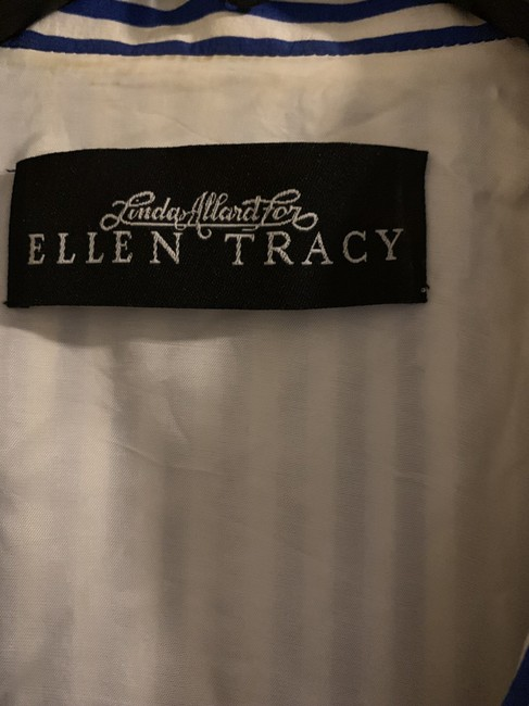 Ellen Tracy Navy blue and white Jacket Image 3