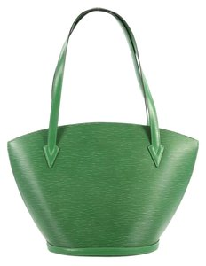 Louis Vuitton Saint Jacques Handbag Epi Leather Tote in green