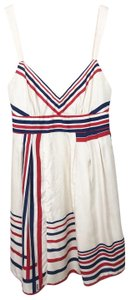 Guess short dress red cream and blue on Tradesy
