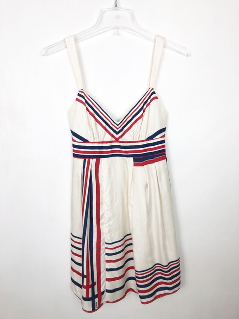 Guess short dress red cream and blue on Tradesy Image 5