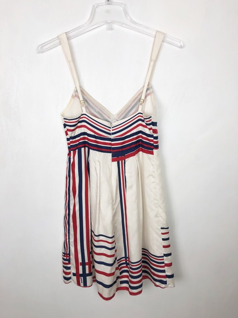 Guess short dress red cream and blue on Tradesy Image 6