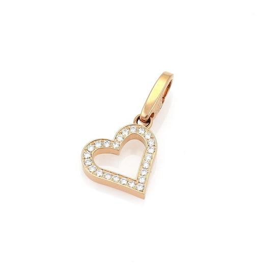 Preload https://img-static.tradesy.com/item/25961785/cartier-22152-diamond-18k-rose-gold-open-heart-pendant-paper-charm-0-0-540-540.jpg