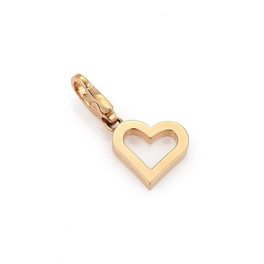 Cartier Diamond 18k Rose Gold Open Heart Charm Pendant - Paper Image 3