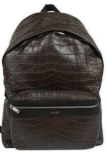 Saint Laurent Crocodile Leather Luxury Sporty Backpack