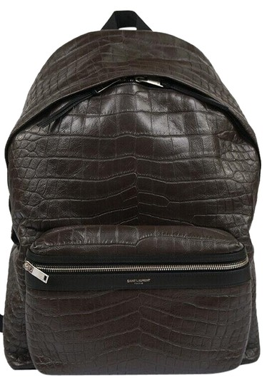 Saint Laurent Crocodile Leather Luxury Sporty Backpack Image 0