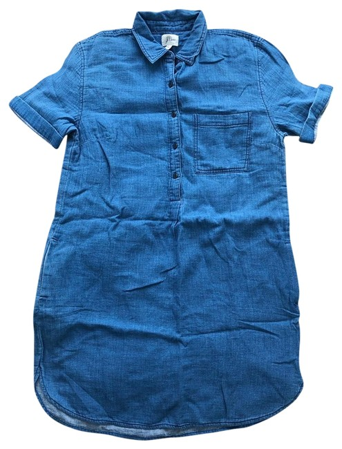 Preload https://img-static.tradesy.com/item/25961895/jcrew-blue-denim-chambray-sleeve-shirtdress-short-casual-dress-size-8-m-0-1-650-650.jpg