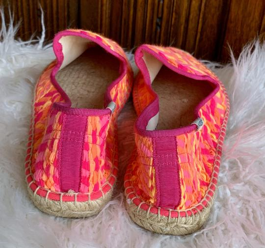 Soludos Neon Pink and Orange Flats Image 1