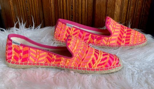 Soludos Neon Pink and Orange Flats Image 2