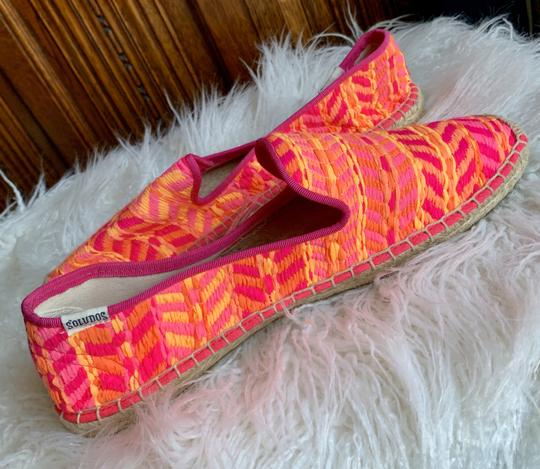 Soludos Neon Pink and Orange Flats Image 4