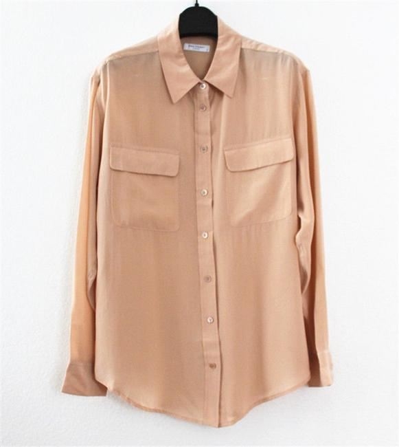 Equipment Button Down Shirt Nude Image 2