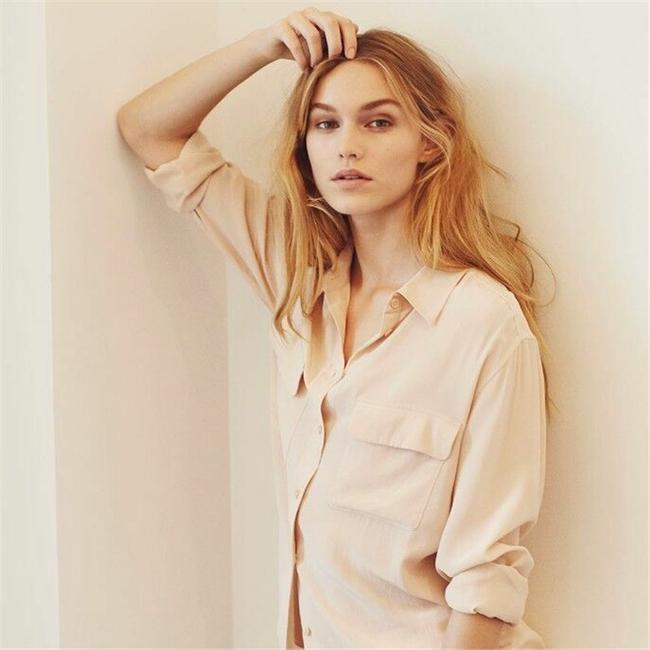 Equipment Button Down Shirt Nude Image 8