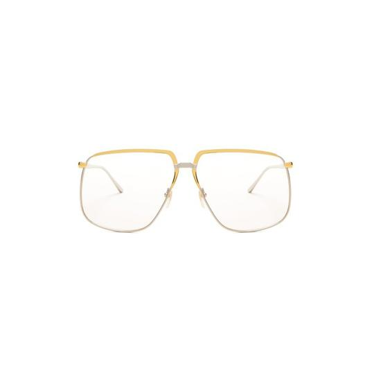 Gucci GUCCI FASHION INSPIRED GG0365S-001 SILVER/GOLD/CLEAR LENS SUNGLASSES Image 1
