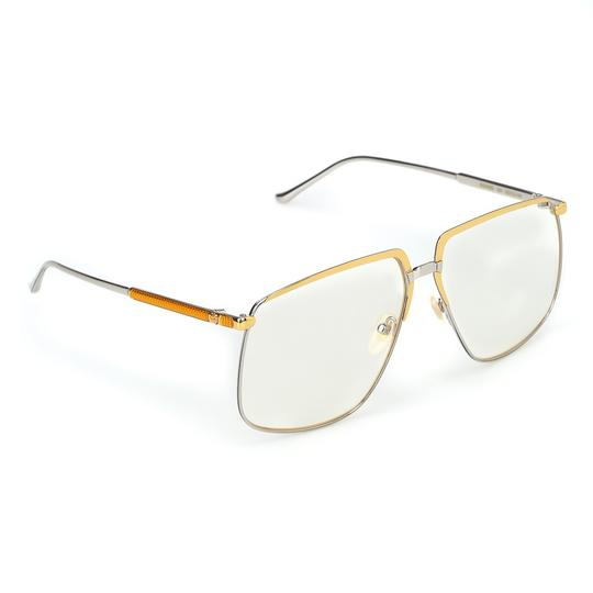 Gucci GUCCI FASHION INSPIRED GG0365S-001 SILVER/GOLD/CLEAR LENS SUNGLASSES Image 2